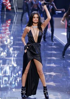 Smokin': Selena Gomez didn't disappoint with her choice of sexy gown for her performance at the Victoria's Secret Show