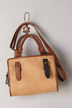Two-Tone Leather Satchel