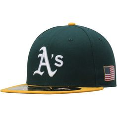 official photos e9dca 3eb23 Men s Oakland Athletics New Era Green September 11th On-Field 59FIFTY Fitted  Hat September 11