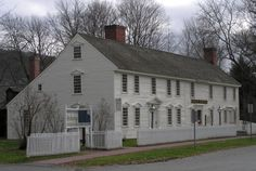 Hall Tavern (1760) in historic Deerfield, MA. Built on the Mohawk Trail in East Charlemont, not far from Deerfield.  Became a tavern in the 1780's and a ballroom was added about 1800. ~♥~