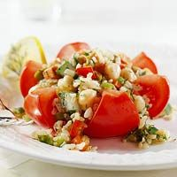 Stuffed Tomato Flowers