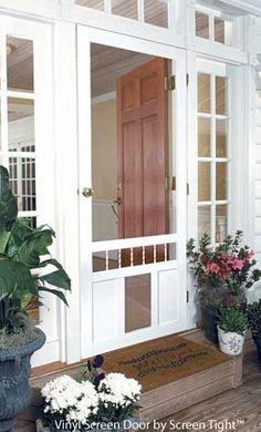 Dog Door - pet screen door by Screen Tight Minimalist House Design, Home Look, Screened Porch Doors, Exterior Screen Doors, Diy Door, Diy Screen Door, Patio Doors, Doors, Sliding Doors Exterior