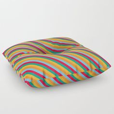 Summer Vibes Diagonal Bold Stripes Floor Pillow by uteb Designer Pillow, Pillow Design, Floor Pillows, Throw Pillows, Bold Stripes, Pillow Shams, Summer Vibes, Design Projects, Bean Bag Chair