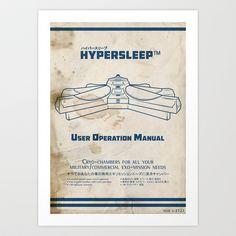 Hypersleep Chamber User Manual Art Print by Aaron A. Fimister - $19.97