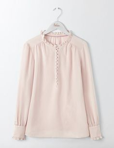 Blush blouse is sweet and feminine addition to the Boden Capsule Wardrobe - Fall 2017 from Her Routine. (affiliate)
