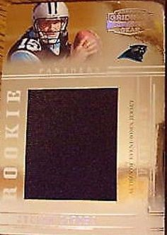 327e0f9ff Eric Shelton RC 2005 UD SP Authentic 3-Color Jersey Patch Auto#/899-Panthers  RB