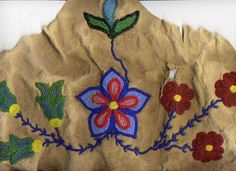No story, but the hide looks quite used/old. Native American Artifacts, Native American Beadwork, Native American Tribes, American Indians, Native Beading Patterns, Indian Beadwork, Aboriginal Culture, Indigenous Art, Beading Projects