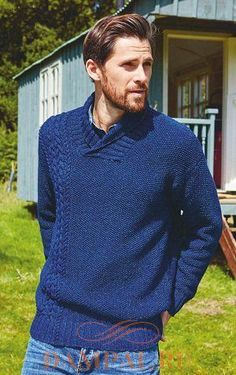 Men's pullovers and sweaters knitting patterns Mens Knit Sweater Pattern, Jumper Patterns, Sweater Knitting Patterns, Free Knitting, Men Sweater, Mens Jumpers, Lana, Free Pattern, Womans Weekly