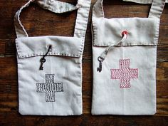 Great Idea using an old key  - Button Hole Bags by annekata, via Flickr