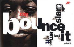 David Carson typography (for Nike) David Carson Design, The Face Magazine, Nike Poster, Neville Brody, Graphisches Design, Layout Design, Cover Design, Nike Design, Typo Design