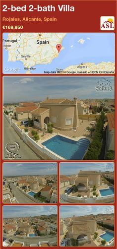 2-bed 2-bath Villa in Rojales, Alicante, Spain ►€169,950 #PropertyForSaleInSpain