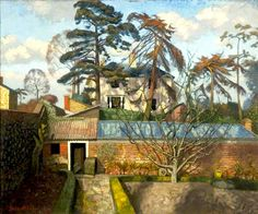February Afternoon by John Arthur Malcolm Aldridge Oil on canvas, x 92 cm Collection: Fry Art Gallery Seascape Paintings, Your Paintings, Landscape Paintings, Landscapes, Landscape Art, Italy Landscape, Impressionist Paintings, Urban Landscape, Garden Painting