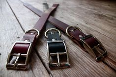 Handmade leather collar in various colors by OneLeashForTheRoad, $20.00