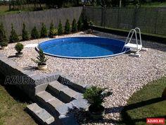 Above Ground Pool Landscaping, Backyard Pool Landscaping, Backyard Pool Designs, Small Backyard Pools, Small Pools, Swimming Pools Backyard, Swimming Pool Designs, Kleiner Pool Design, Piscine Diy
