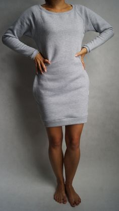 Sweatshirt dress long sleeves by Lilyoodziez on Etsy