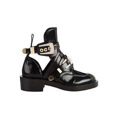 Balenciaga Ceinture cutout ankle boots, $1,161; matchesfashion.com