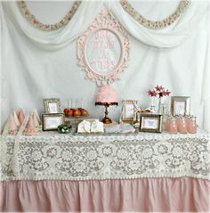 Like the lace on the pink tablecloth