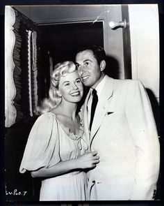 "Doris Day and husband Marty on the set of ""I'll See You In My Dreams"""