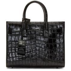 Saint Laurent Black Leather Nano Sac De Jour Bag