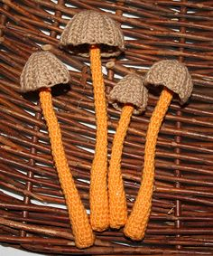 Mushroom - crochet pattern - Mycenia Mushroom x4
