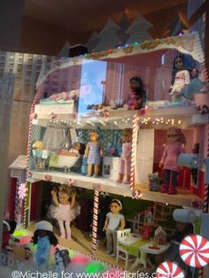 American Girl Place Chicago Holiday Windows 2011 doll display. I LOVE this house!!!