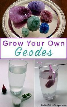 DIY Geodes science experiment - The results are amazing. Keep this one handy! Kids will love it! DIY Geodes science experiment - The results are amazing. Keep this one handy! Kids will love it! Do It Yourself Inspiration, Style Inspiration, Inspiration Fitness, Science For Kids, Kid Experiments At Home, Science Ideas, Easy Science Experiments, Kindergarten Science Experiments, Science Art
