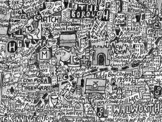 Stephen Walter, 'The Island', 2008 London map