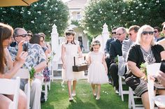Flower girls at Fall Wedding in Sonoma at Garden Pavilion