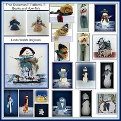 The Best Free Crafts Articles: Gotta Love Snowmen Dolls and Ornaments Free Tutorials, E-Patterns, and E-Books by Linda Walsh of Linda Walsh Originals