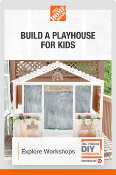 Build A Playhouse, Playhouse Outdoor, Playhouse Ideas, Diy Wood Projects, Outdoor Projects, Backyard Sheds, Backyard Camping, Diy Workshop, Do It Yourself Projects