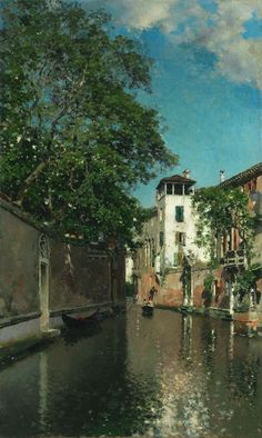 Canal in Venice | The Art Institute of Chicago Martin Rico y Ortega