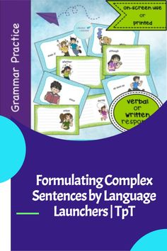 Structure grammatically correct sentences related to a picture with a given word. Verbal Communication Skills, School Age Activities, Hearing Impairment, Grammatically Correct, Complex Sentences, Direct Instruction, English Language Learners, Language Development, Speech And Language
