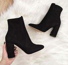 Aurella midnight black women s ankle boots aldoshoes com us aldoshoescom ankle aurella black boots midnight womens dress skirt winter casual Fashion Boots, Sneakers Fashion, Heeled Boots, Shoe Boots, Women's Shoes, Shoes Style, Boot Heels, Cute Shoes Heels, Ankle Shoes