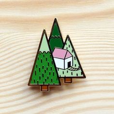 Image of Woodland Series – Treehouse Brooch