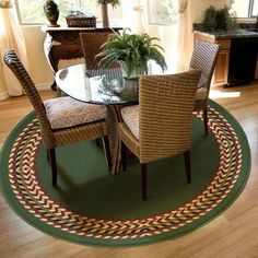 Orian Braid Border Round Rug, Cactus Wilson What Do You Think Of Rug On  Carpet Under The Dining Room Table? Part 71