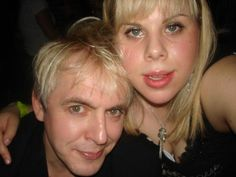 Nick and his daughter! First photo I've ever seen of her, looks just like her daddy! Still In Love, My Love, Nick Rhodes, John Taylor, Try Harder, He's Beautiful, Music Icon, Famous Celebrities, No One Loves Me