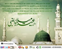 MAY THE BLESSINGS OF THIS EID-E-MILAD-UN-NABI CELEBRATION BRING LOTS OF HAPPINESS IN YOUR LIFE. MAY YOU CELEBRATE IT WITH ALL YOUR CLOSE FRIENDS & FAMILY & MAY YOUR HEART BE FILLED WITH LOVE OF MOHAMMAD (S.A.W.W)  A Very Happy Eid-e-Milad-un-Nabi. Eid E Milad, Eid Milad Un Nabi, Close Friends, Friends Family, Happy Eid, Taj Mahal, Blessed, Bring It On, Blessings