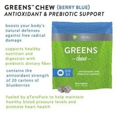 Don't want to drink it?  Then CHEW it!  Your body deserves the nutrients..  Nutrients on the GO!  #itworks #greens