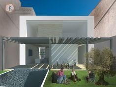 KALEIDOSCOPE_vista 3D fachada posterior vivienda entre medianeras