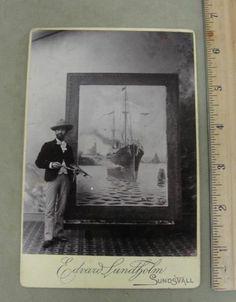 Antique Edvard Lundholm Cabinet Card Photograph Swedish Artist Painter | eBay