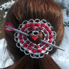 pop tab hair ornament