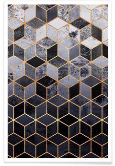 Daydream Cubes als Premium Poster von Elisabeth Fredriksson | JUNIQE