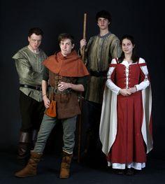 Robin Hood (tri-state homeschool) Guy, Robin, Little john, and Marian.