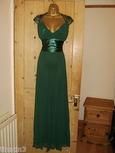 BEAUTIFUL SEQUIN DESIGN MAXI EVENING PARTY DRESS BALLGOWN SIZE 14 BNWT