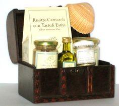 Caviar, truffles and foie gras gourmet gift wood chest