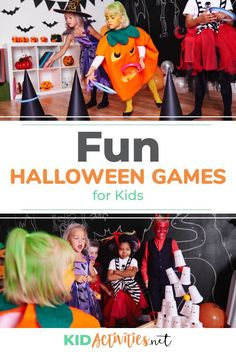 74 Fun Halloween Games For Kids [Halloween Game Ideas - Halloween Kid Activities - Halloween Class Party, Halloween Activities For Kids, Indoor Activities For Kids, Halloween Cupcakes, Halloween Kids, Kid Activities, Holiday Activities, Halloween Crafts, Pirate Party Games