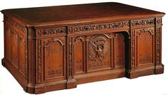 White House Oval Office President Resolute Desk---by Victorian Replicas Resolute Desk, Victorian Furniture, Antique Furniture, Wooden Furniture, Oval Office, Office Desks, Office Table, Antique Desk, Furniture