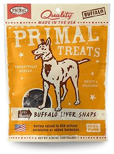 Primal Buffalo Liver Snaps ** Want to know more, click on the image.-It is an affiliate link to Amazon. #DogFoods