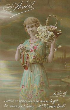 Antique April Fools Day postcard