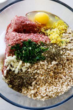 Lamb burger flavored with oregano and garlic. #lamb #burger